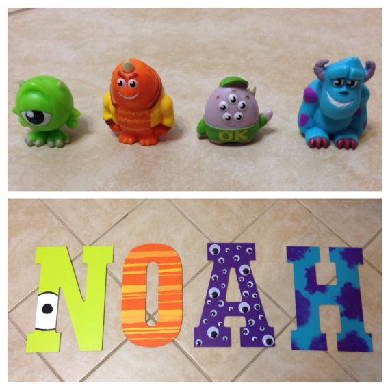Monsters Inc. Inspired Name For Little Boys Room On Etsy, $75.00