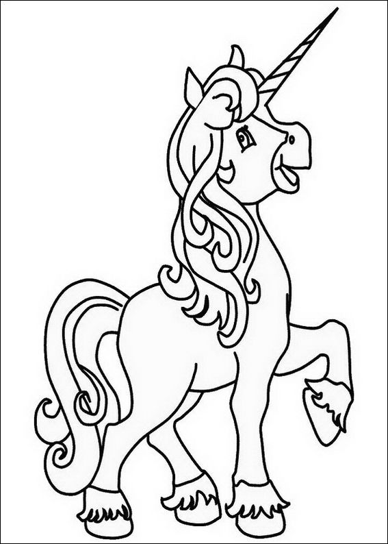 unicorn girl coloring page - Girl Colouring Pages Printable Free