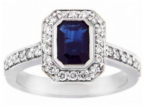 #sapphire and #diamond ring | #thomasjewellers