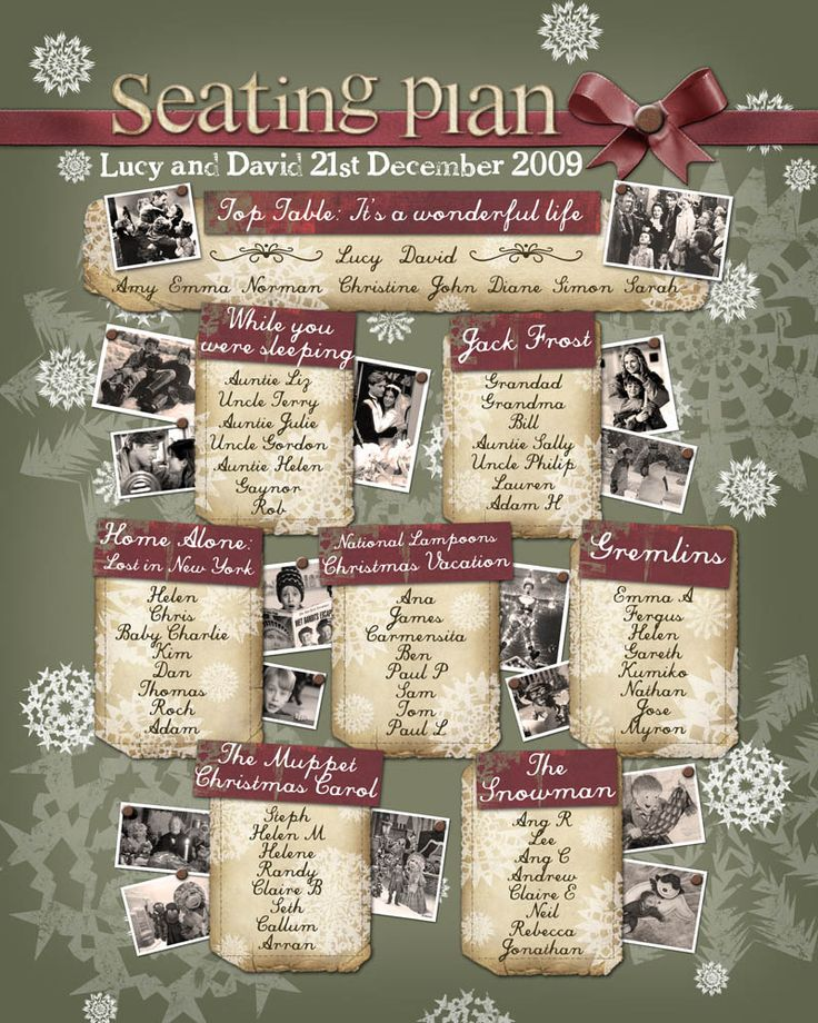 40 Best Images About Table Plans For Christmas Weddings On
