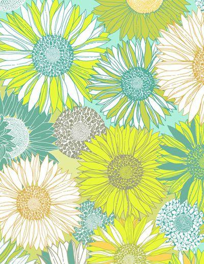 On aime ce motif floral aux couleurs vibrantes. Venez peindre un projet de peinture sur céramique d'inspiration printanière au Crackpot Café!