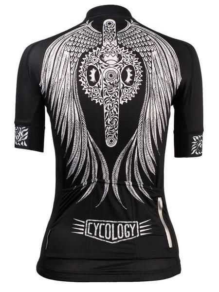 Flow Women's Cycling Jersey in black from Cycology Clothing UK