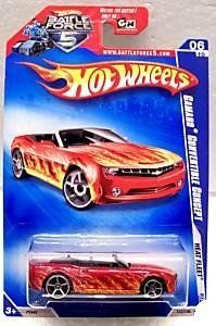 HOT WHEELS 2009 '09 HEAT FLEET 2010 '10 06 OF 10 CAMARO CONVERTIBLE CONCEPT RED WITH FLAMES 122/190 by HOT WHEELS. $7.99