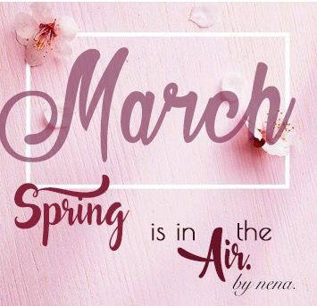 Spring is in the air... March