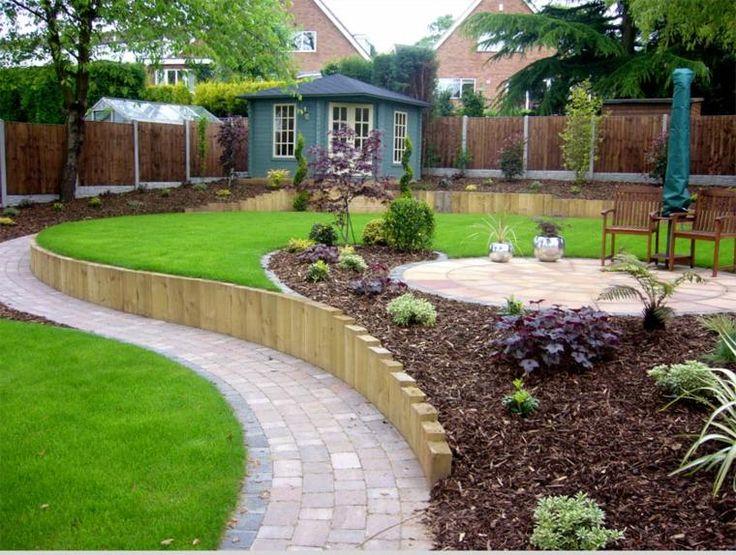 bordure de jardin et décoration contemporaine