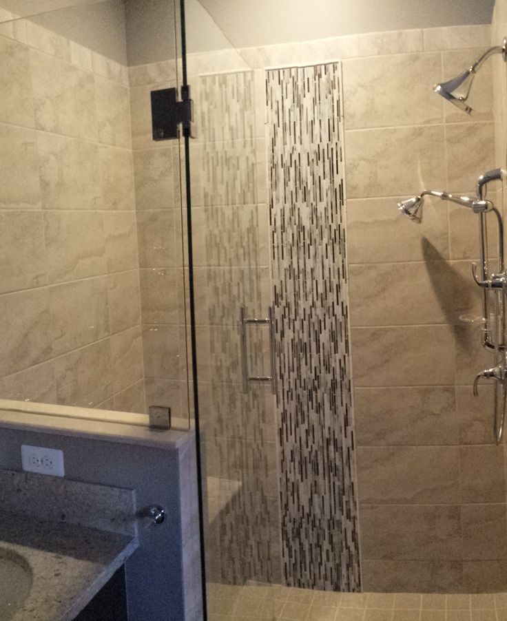 Bathroom Remodel Glass Tile 39 best our guest bath remodel images on pinterest | bathroom