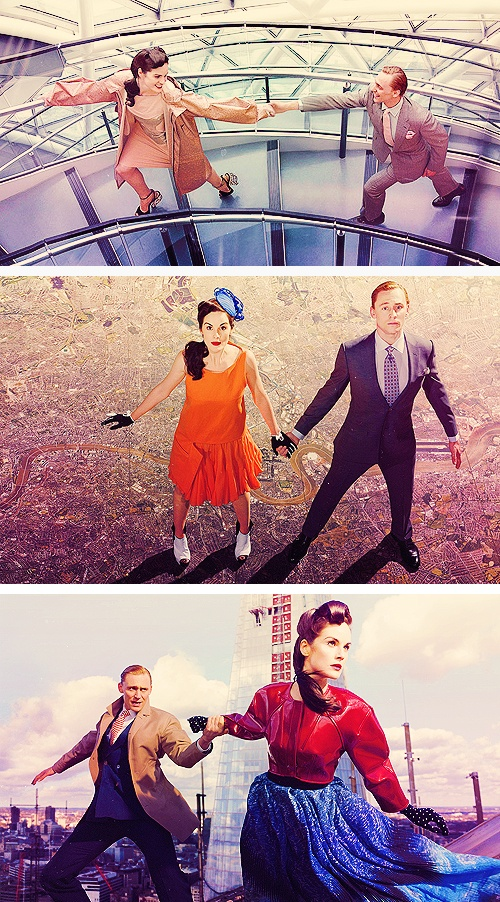 Tom Hiddleston and Michelle Dockery by Jonathan de Villiers for TIME Magazine