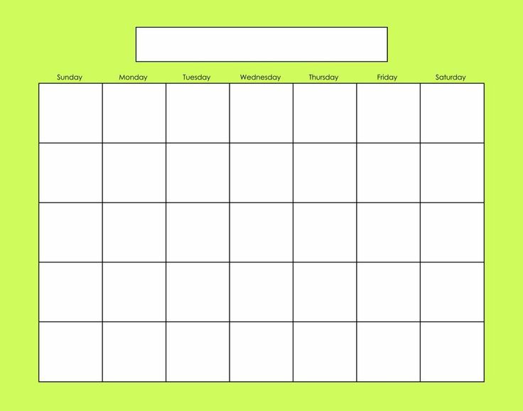 Blank Calendar PrintableBest Photos Of Blank Calendar Template No