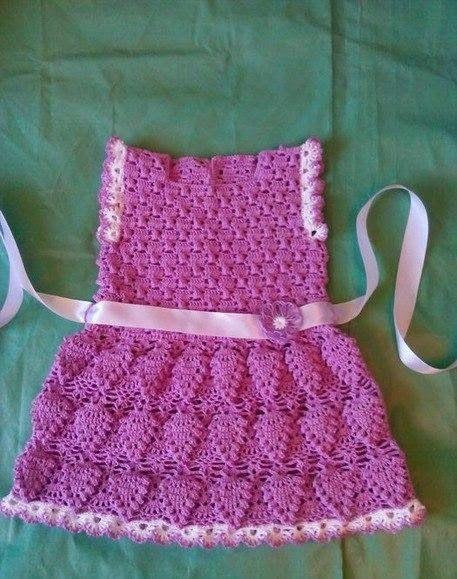 Crochet: Dress for girls  ❤️LCK-MRS❤️ with diagram.