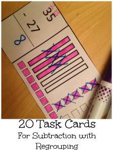 A great way to help children with subtraction with regrouping, especially if you do not have base ten blocks. This printable consist of 20 cards that look exactly the same, just have different expressions. $2
