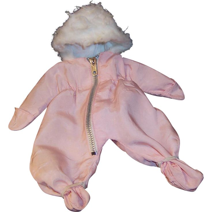 Vogue 1959 Ginnette Pink Hooded Pram Snow Suit from ruthsredemptions on Ruby Lane