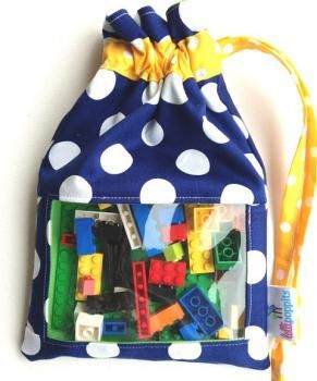 Kids building blocks have been providing fun for years. Whats better, is we provide building blocks for kids on the move. Buy the navy cotton kids building block bag set online.