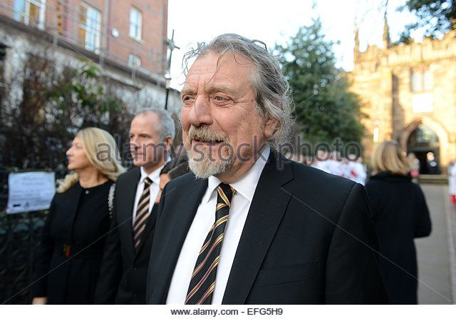 Robert Plant former Led Zeppelin singer at the funeral of Sir Jack Hayward Credit: David Bagnall/Alamy Live News - Stock Image