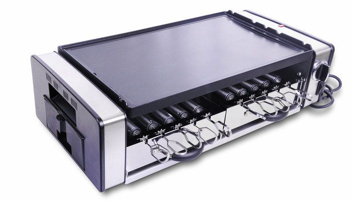 Electric hotplate electric grill BBQ household electric oven commercial teppanyaki barbecue pan electric heating pot US $252.12