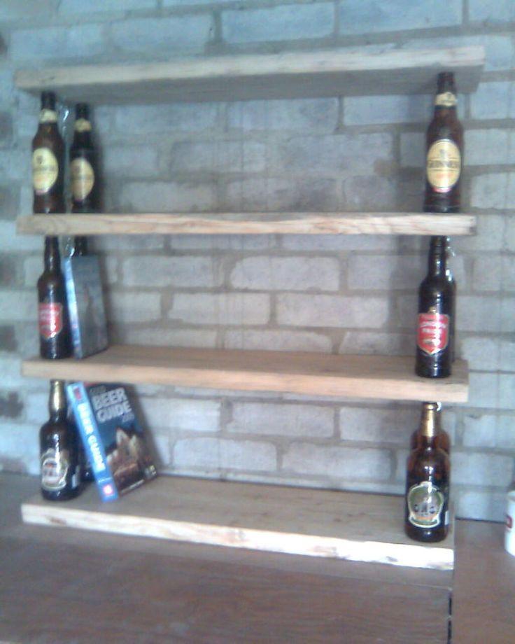 1000 images about wine bottle shelves on pinterest for Wine bottle shelf diy