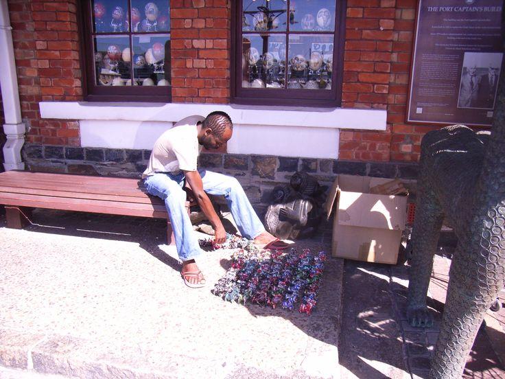Kunst am Entstehen. Mitten in der Waterfront Cape Town