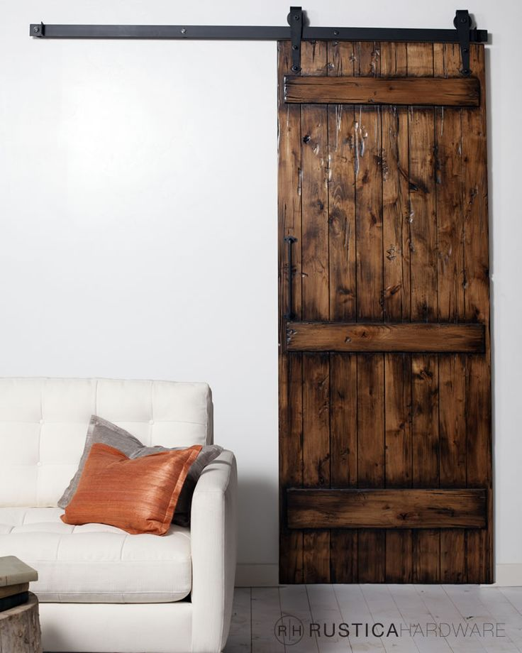 The Ranch Barn Door Is The Ultimate Rustic Door Shown With Arrow Barn Door  Hardware Brings