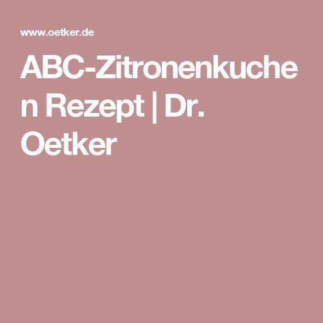 ABC-Zitronenkuchen Rezept | Dr. Oetker