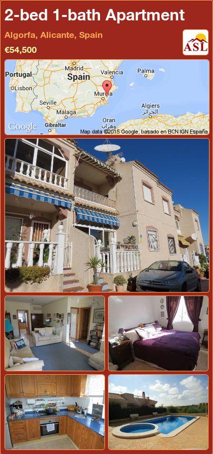 2-bed 1-bath Apartment in Algorfa, Alicante, Spain ►€54,500 #PropertyForSaleInSpain