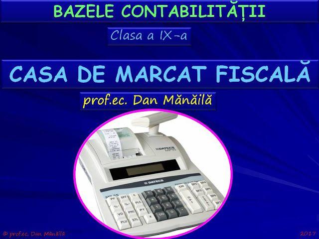 Profu`economist: CASA DE MARCAT FISCALĂ