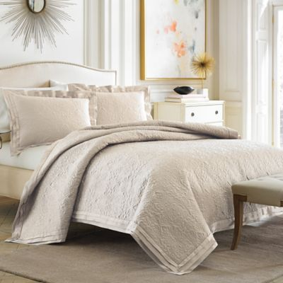 Croscill® Pierce Coverlet in Ivory - BedBathandBeyond.com