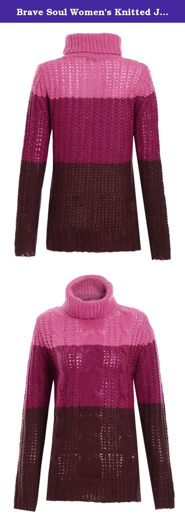 Brave Soul Women's Knitted Jumper Roll Polo Neck Chunky Cerise 8. - Brand New & High Quality Ladies Jumper - Polo Roll Neck, Chunky Knit - Multi Colour Knitted - Ideal for Casual & Outdoors - Composition: 100% Acrylic - Colours: Cerise-Purple-Wine / Turquoise-Royal-Navy - Should you require any further details, please do not hesitate to contact us anytime - 5-9 Working Days delivery to USA (Delivery times exceptionally varies, depending on your area and custom clearance times) .