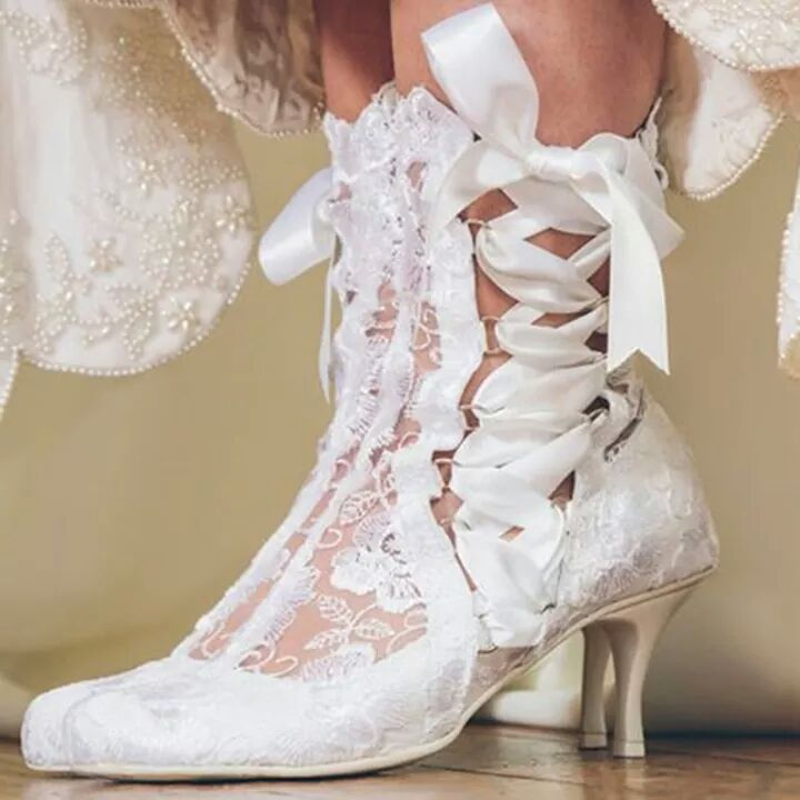 Classy Lace up Bridal Shoe with heels