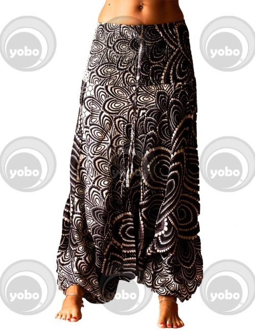 pantaloni larghi donna aladdin etnici harem #3
