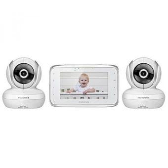 ของดี  GPL/ Motorola MBP38S-2 Digital Video Baby Monitor with 4.3-InchColor LCD Screen and 2 Cameras with Remote Pan, Tilt and Zoom/shipfrom USA - intl  ราคาเพียง  10000 12,591 บาท  เท่านั้น คุณสมบัติ มีดังนี้ Parent Unit with 4.3-Inch viewing screen 2 Cameras with Remote Pan, Tilt and Zoom Features Two-Way Communication, Room Temperature Display andInfrared Night Vision Up to 1000-foot range with out of range alert Pair up to 4 baby units Wireless Technology:2.4 GHz FHSS, 4.3\ Diagonal…