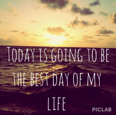 """Today I was listening to Best Day Of My Life by American Authors and I was listening to the chorus and I thought """"Ya probably not…"""" but then I was like """"No! It IS gonna be the best day of my life, and it IS gonna be a good day because I'm gonna make it a good day no matter what happens!"""" And that's how I turned my day around in 15 seconds or less. And guess what! It ended up being an extremely good day =)"""