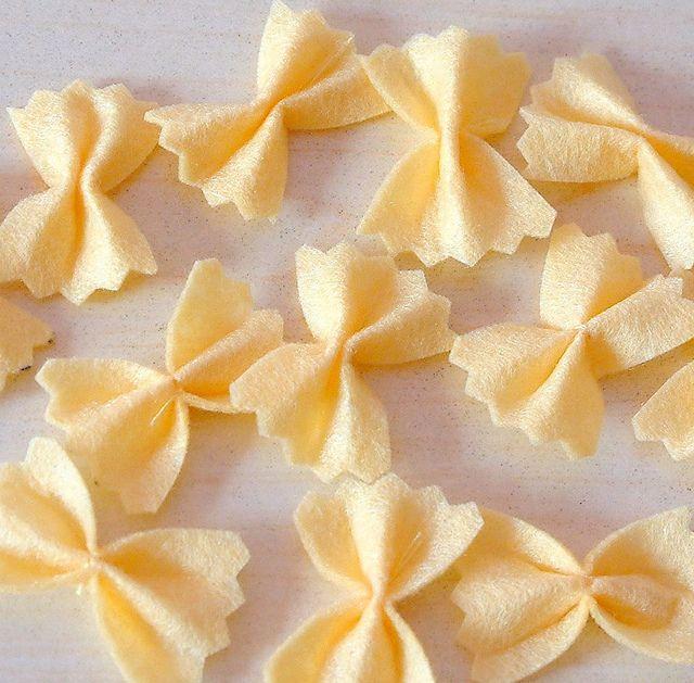 Felt food pattern-Felt Pasta by fairyfox, via Flickr