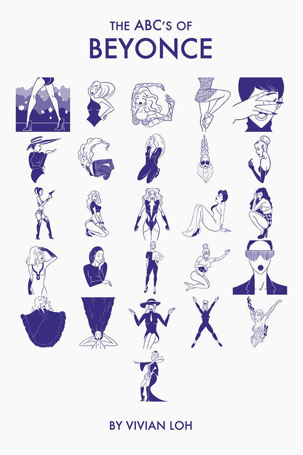 The ABC's of Beyonce by Vivian Loh Pays Tribute to Current Grammy Queen #typography #alphabets trendhunter.com