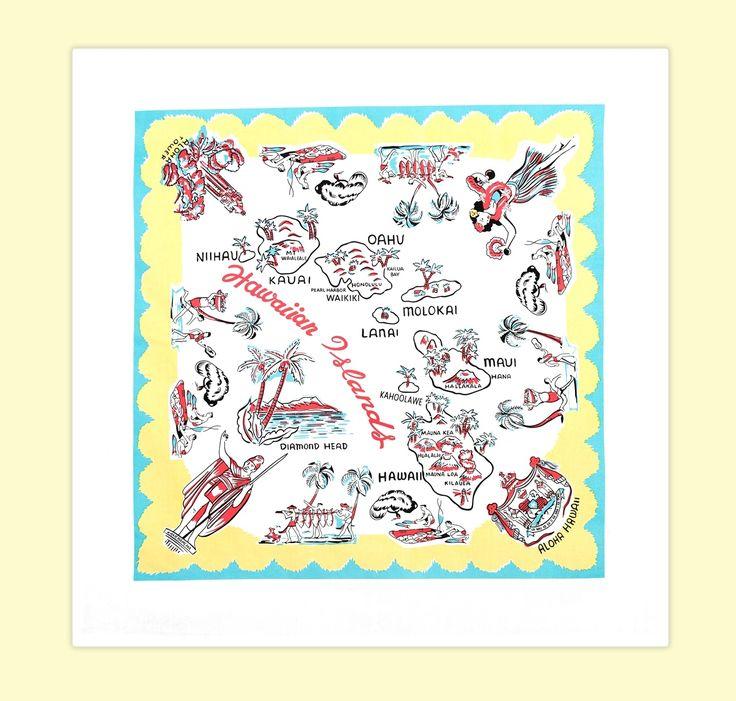 Aloha Hawaii Tablecloth - Red and White Kitchen Company