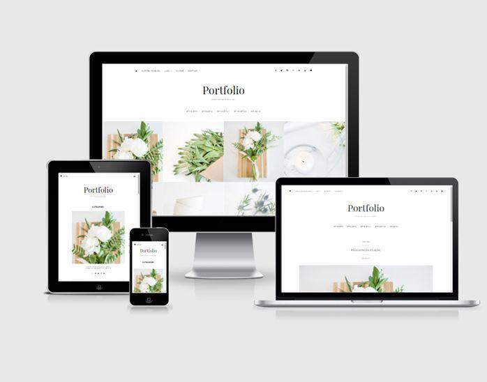szablon na bloga Blogger portfolio2