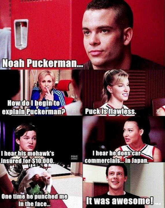 Glee, noah puckerman, puck, mean girls, sue sylvester