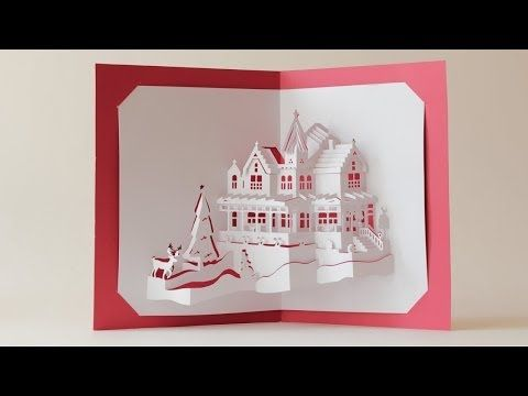 2036 best images about kirigami jenigami on pinterest for Kirigami christmas card