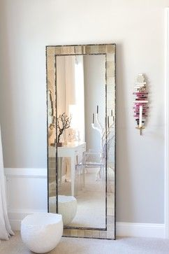 All I need is a dainty dressing table sitting in front of this elegant full length mirror.