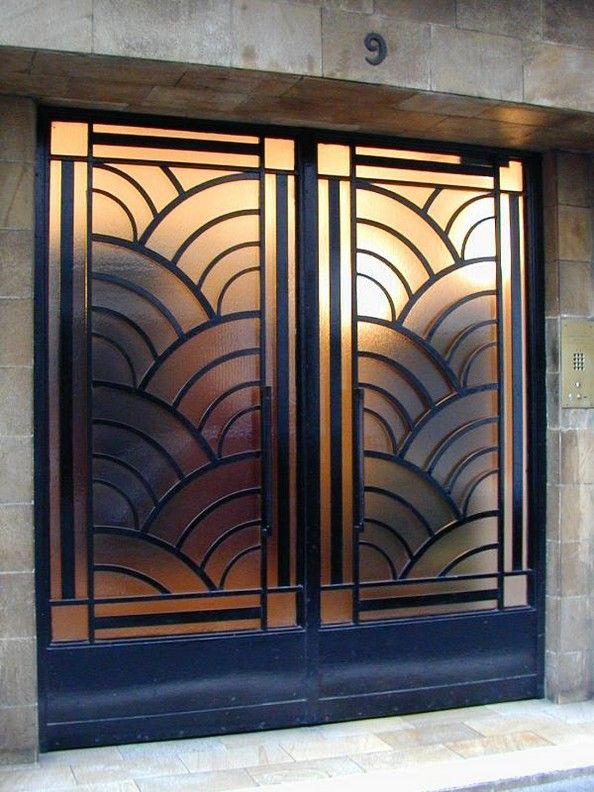 Art Deco Doors | #zincdoor #doors #gold