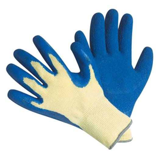 Amazon.com: G & F 1607L Cut Resistant 100-Percent Kevlar Gloves, Heavy Weight Textured Blue Latex Coated, Large, 1-Pair: Home Improvement