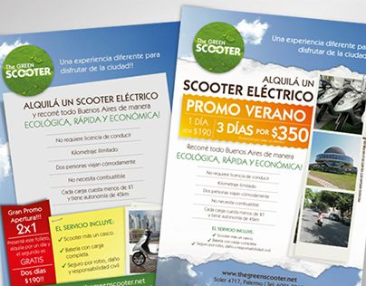 "Check out new work on my @Behance portfolio: ""The Green Scooter 