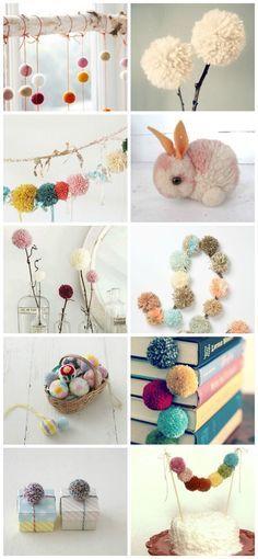 Pompones lana - En casa de Tía Gretel: Tutoriales (DIY)