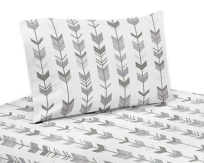 Sheets 79619: Twin Size Bed Sheet Set For Sweet Jojo Grey And White Woodland Arrow Bedding Set -> BUY IT NOW ONLY: $64.99 on eBay!