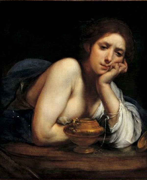 Centuries Past, Mary Magdalena Francesco Furini (1640) Painting -...