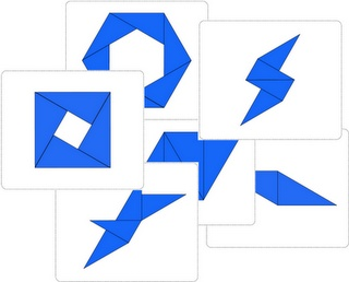 Montessori Constructive Blue Triangles Activity Set