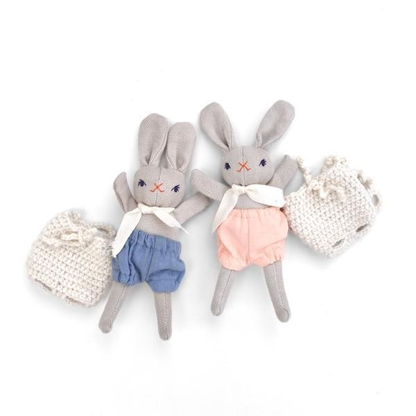 Baby Rabbit and Backpack by Polka Dot Club | Wild & Whimsical Things www.wildandwhimsicalthings.com.au