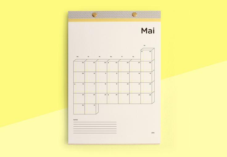 Kalender 2016Material: Biotop Papier, BucheFormat: 21 x 29,7 cmMaterial: Biotop paper, beechSize: 21 x 29,7 cmHand Made in Austria