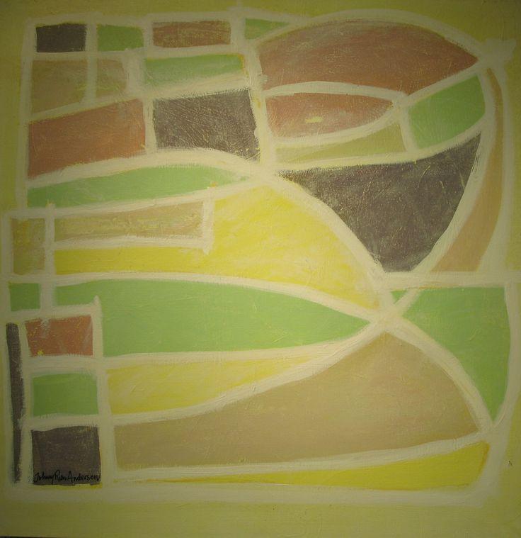 Maleri Solskinn 80x80 cm