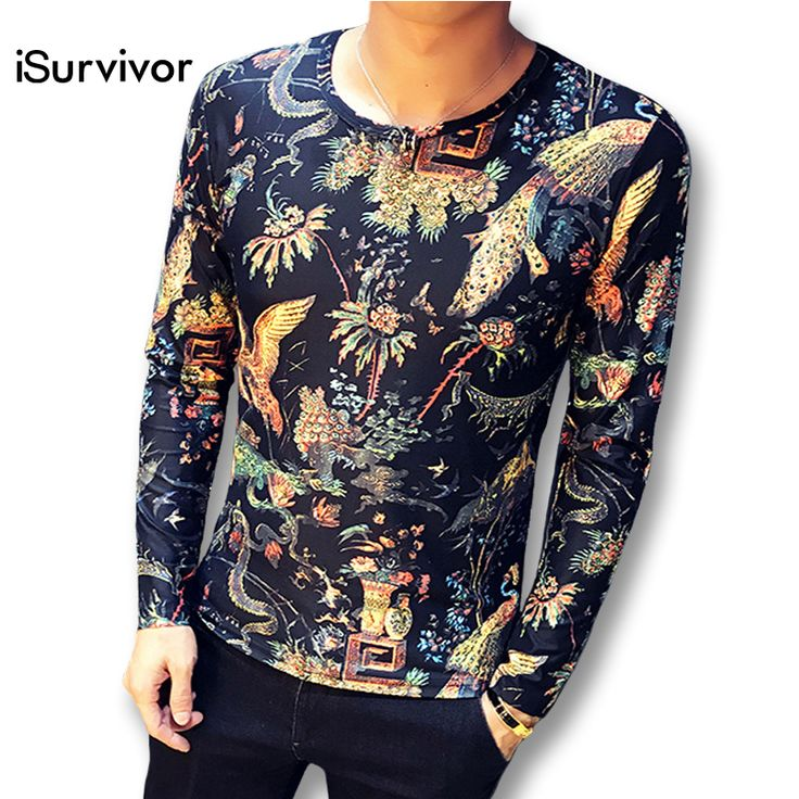 2017 iSurvivor Men Long Sleeved T Shirts Sweatshirts Pullovers Male Casual Fashion Slim Fit O Neck Spring Autumn T Shirts Hombre #Affiliate