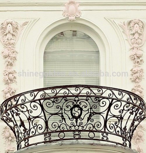 Iron balcony balustrade, View wrought iron balcony balustrade, SHINEGOLDEN Product Details from Shinegolden Steel Craft Co., Ltd. on Alibaba.com