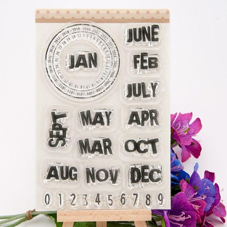 10 * 15 cm diseño meses transparente de silicona transparente sello / sello para DIY scrapbooking / álbum de fotos decorativo claro hojas de estampillas en Sellos de Escuela y Oficina en AliExpress.com | Alibaba Group